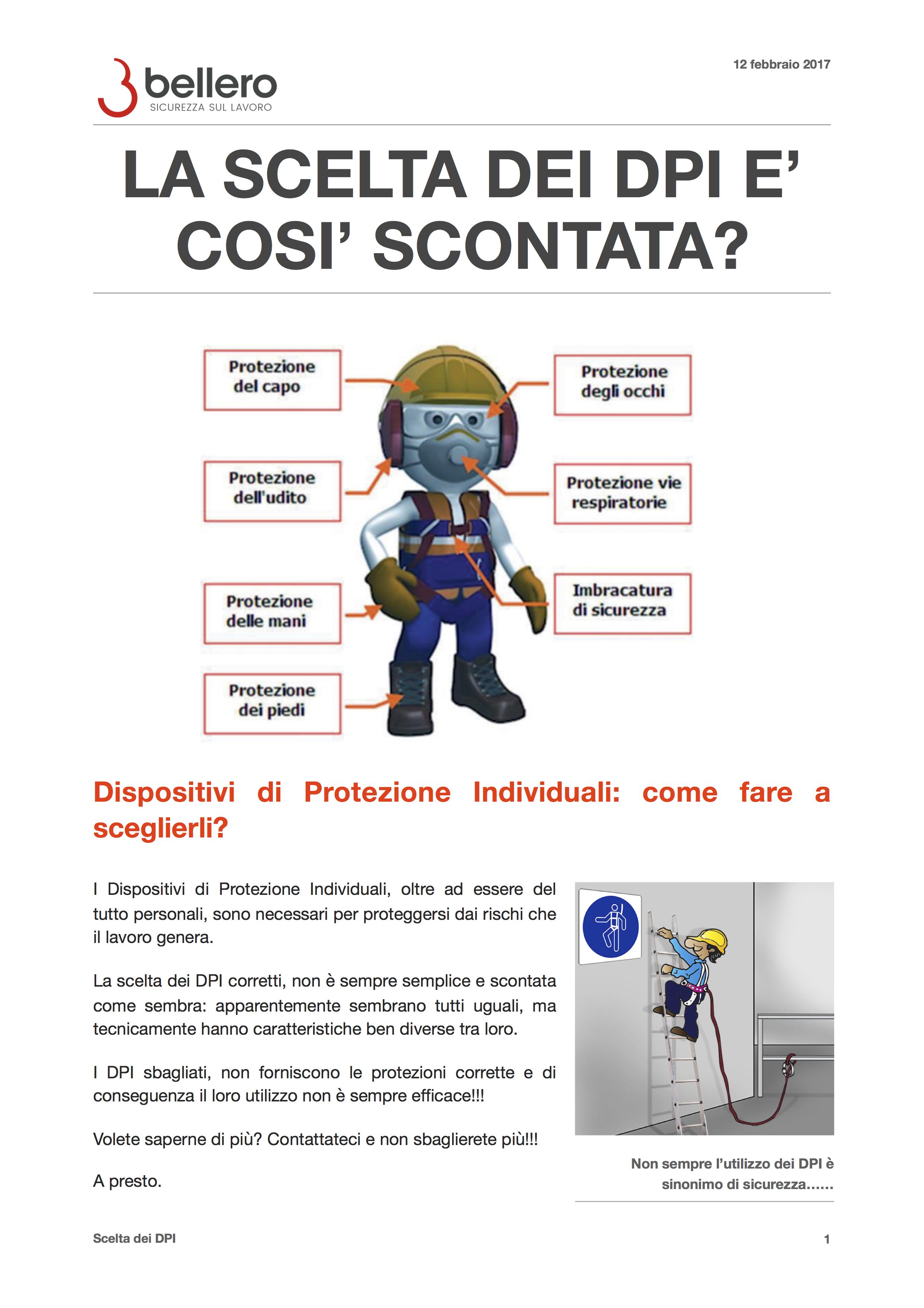 LA SCELTA DEI DPI E\' COSI\' SCONTATA?|BELLERO